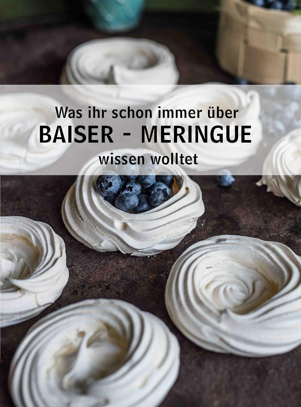Baiser - Meringue, meine Versuchsreihe