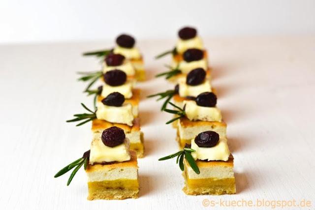 Cream Cheese Squares -  Käse Mango Cranberries