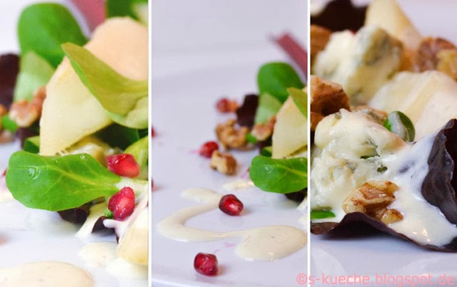 Salat Birnen Walnüsse Gorgonzola