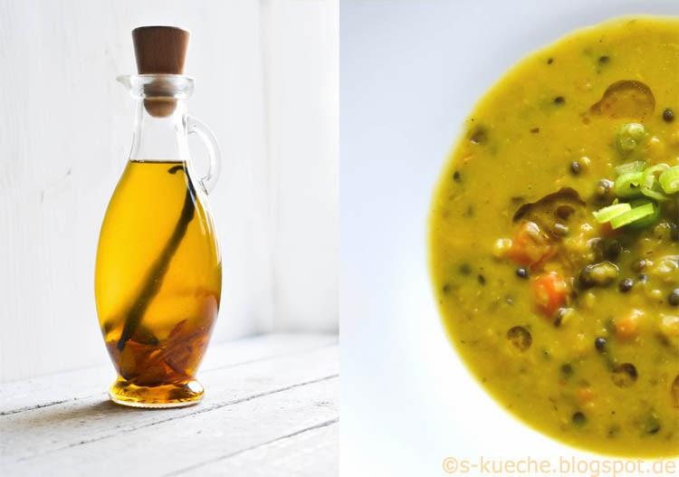 Bunte Linsensuppe S-Küche Suppe und Öl