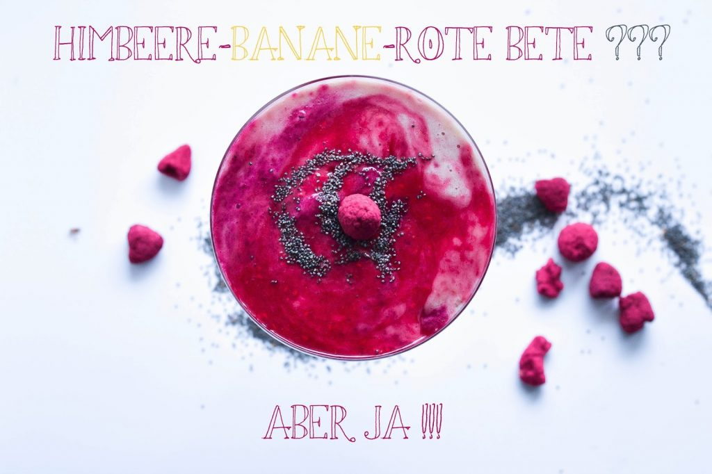 Himbeer-Banana-Rote Bete Smoothie