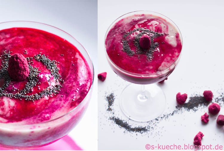 Himbeer-Banana-Rote Bete Smoothie Collage