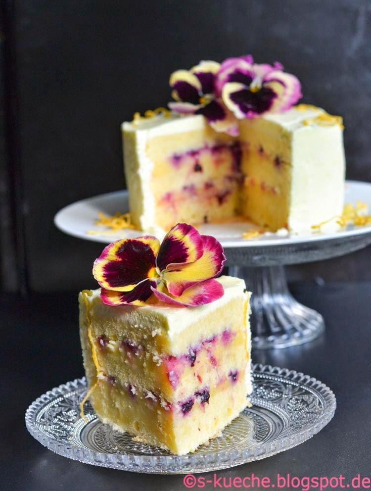 Triple Lemon Cake Anschnitt