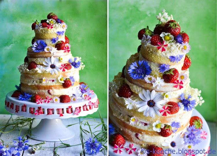 Erdbeer-Mandeltorte S-Küche