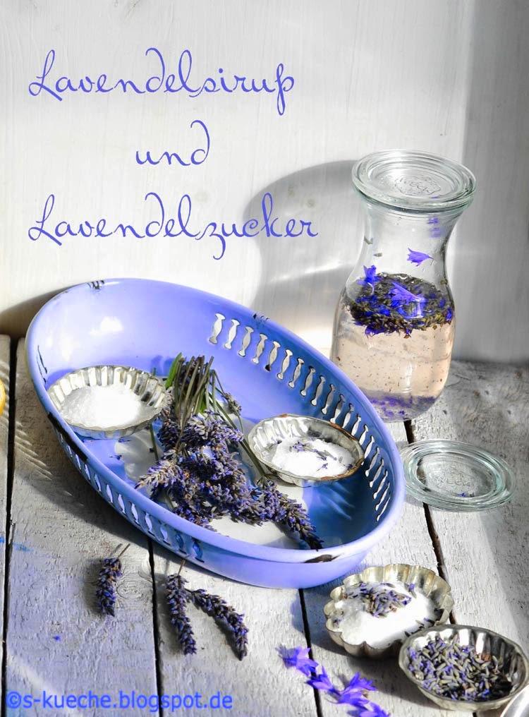 Lavendelsirup und Lavendelzucker - s-Küche