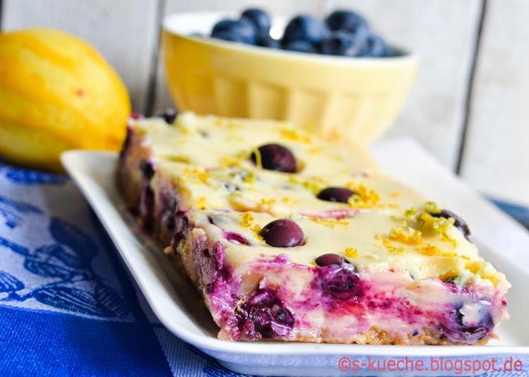 Blueberry Lemon Bars - Blaubeerschnidden - s-Küche