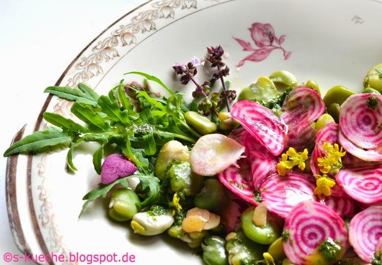 Salat mit Chioggia Bete und Fave