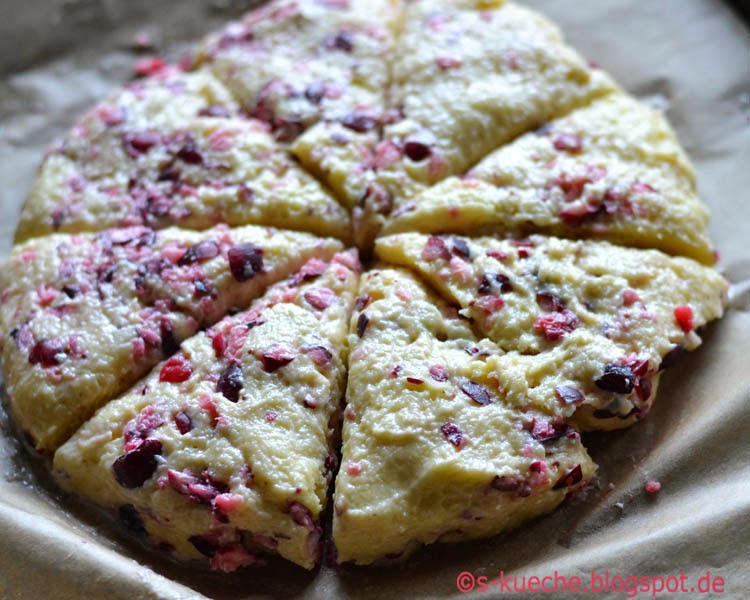 Cranberry Cream Scones
