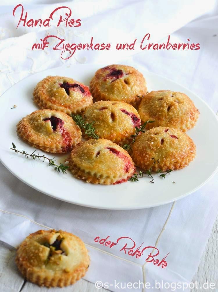 Hand Pies mit Ziegenfrischkäse und Cranberries oder Rote Bete