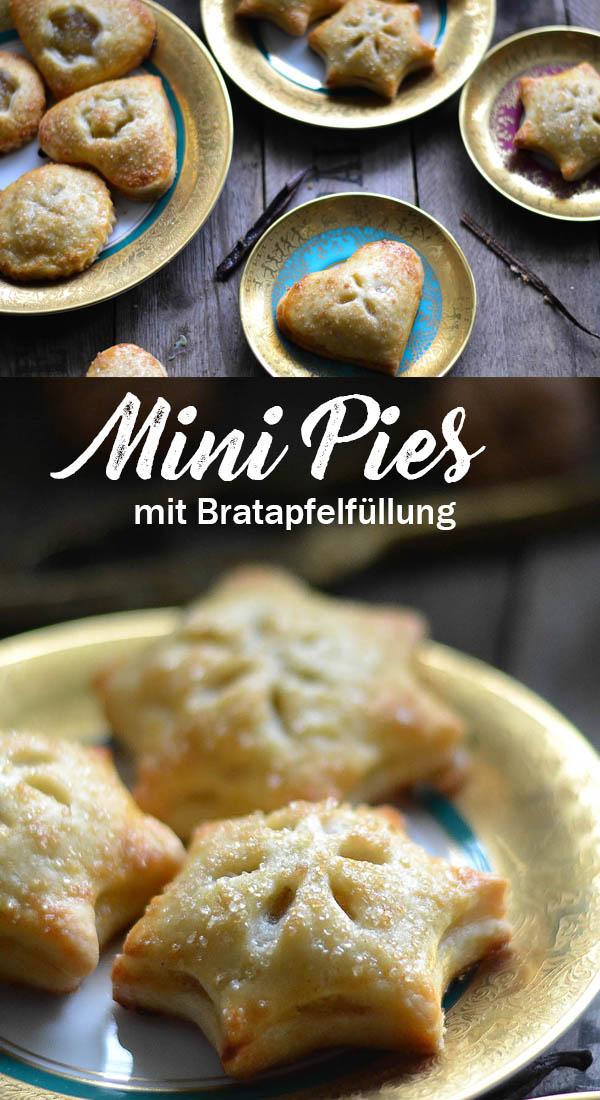 Hand Pies mit Bratapfelfüllung - Mini Pies aus dem weltbesten Pie Teig