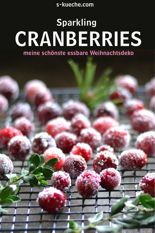 Sparkling Cranberries - Gezuckerte Weihnachts Cranberries