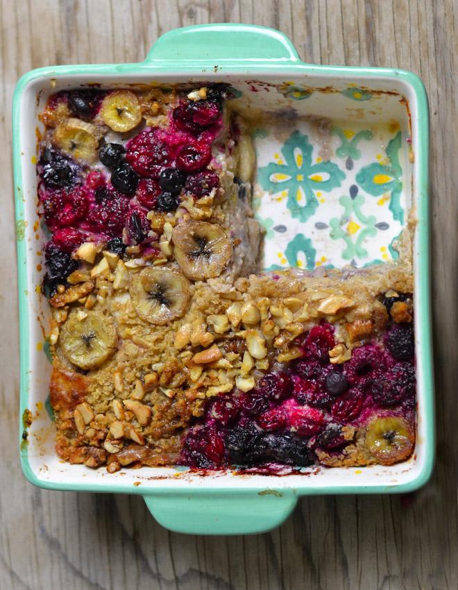 Frühstücksauflauf mit Haferflocken - Baked Oatmeal