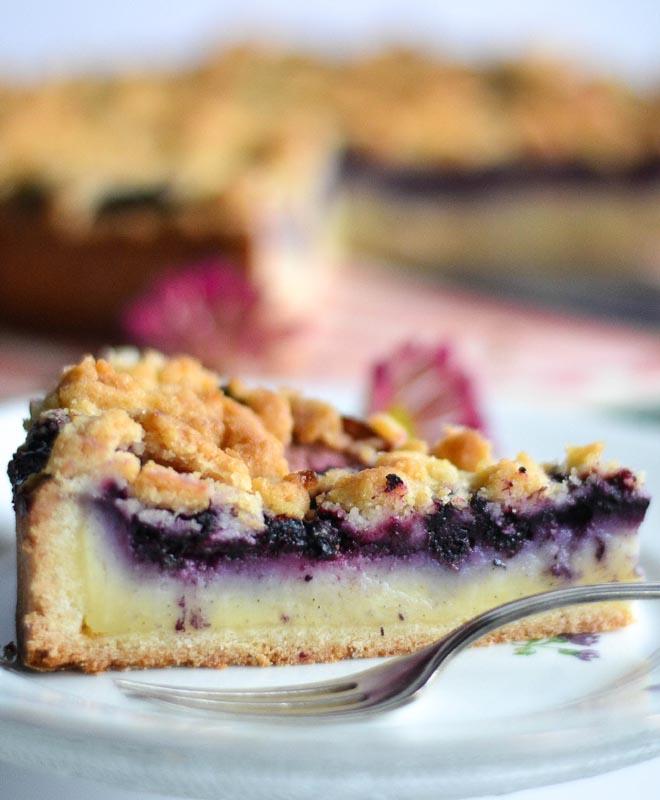 Pudding - Blaubeer - Streuselkuchen