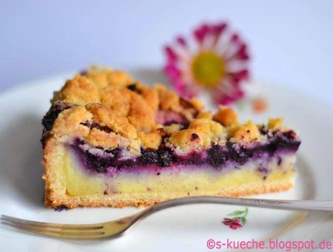 Pudding Blaubeer Streuselkuchen S Kuche