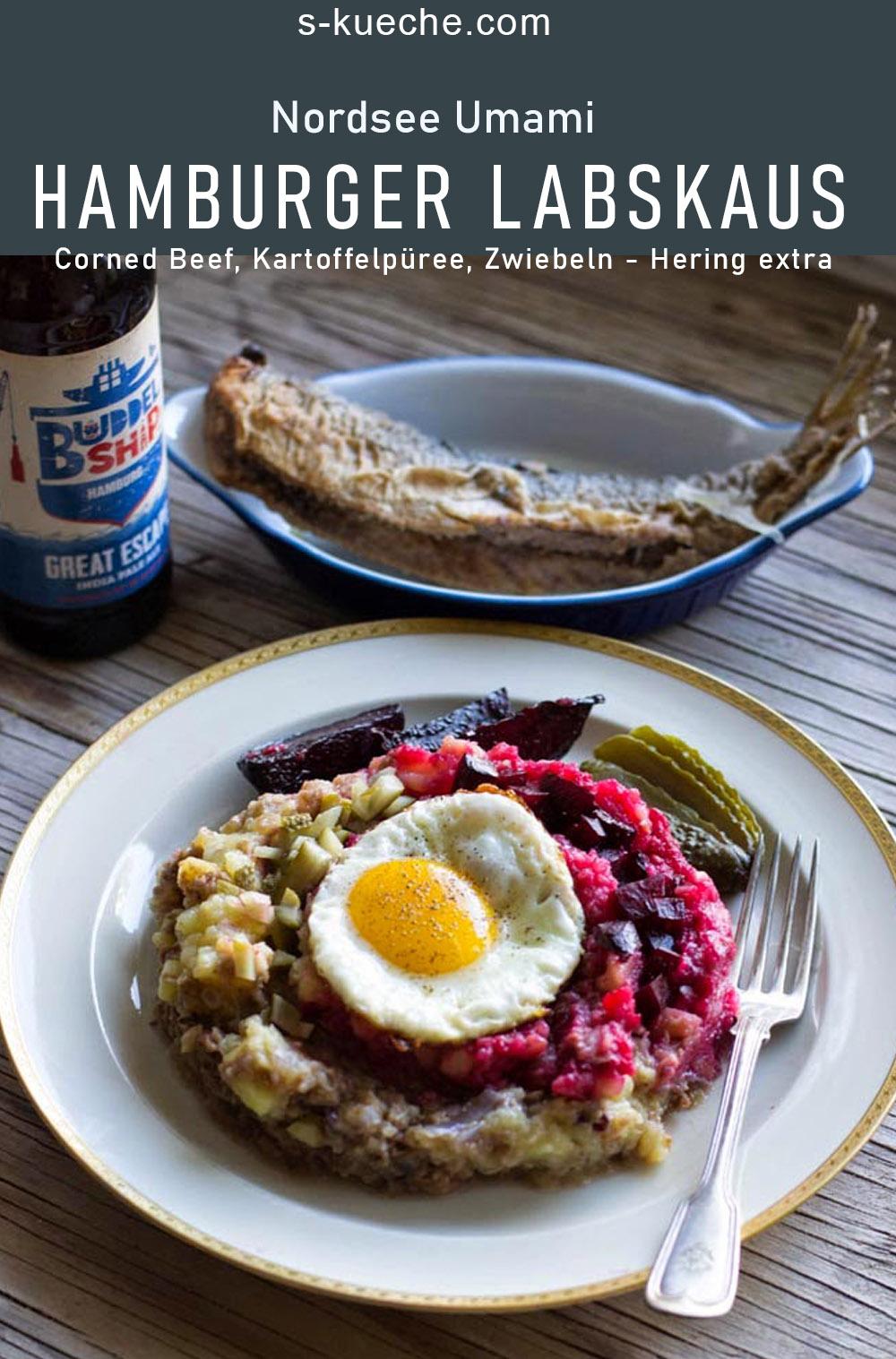 Corned Beef, Kartoffelpüree und Zwiebeln - Hering extra