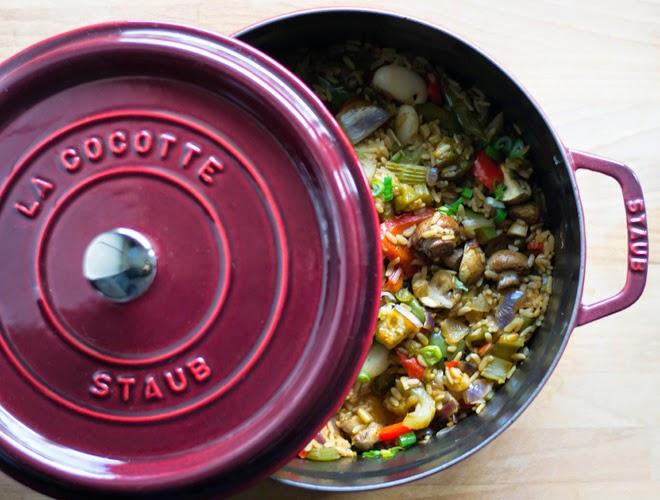 Outdoor Küche Vegetarisch : Vegetarisches jambalaya in der cocotte von staub s küche