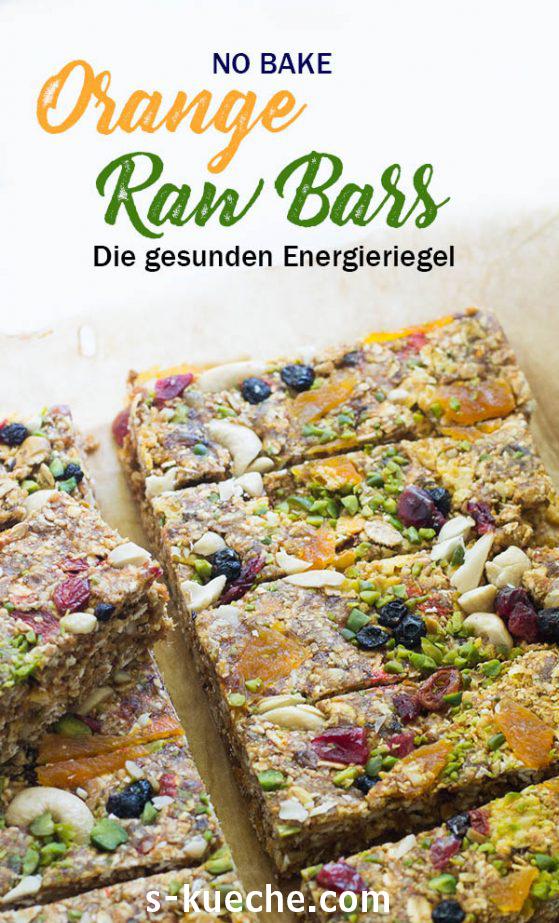 Orange Raw Bars - meine Energiespender - Mit super gesunden Nüssen, Trockenfrüchten und tollem Orangengeschmack Schnell, einfach und formstabil ohne backen #energieriegel #nobake #rezept #healthy