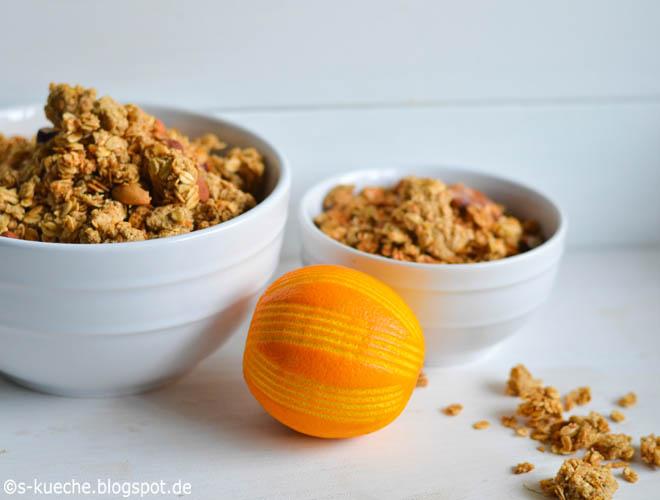 Orangen Granola Knuspermüsli
