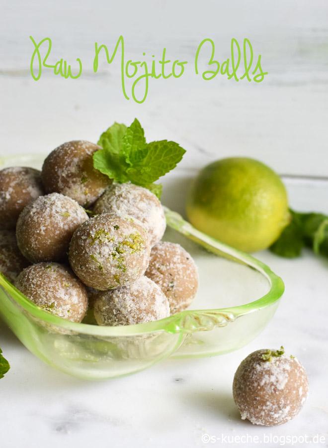 Raw Mojito Balls - Energiekugeln mit Minze und Limette