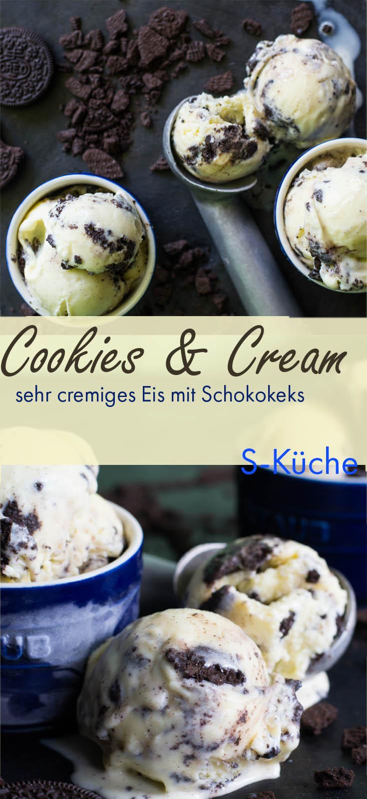 Homemade Cookies and Cream Eis