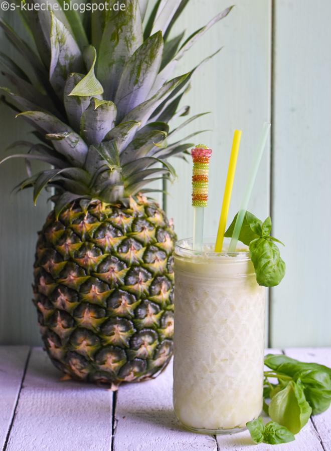 Ananas Basilikum Shake