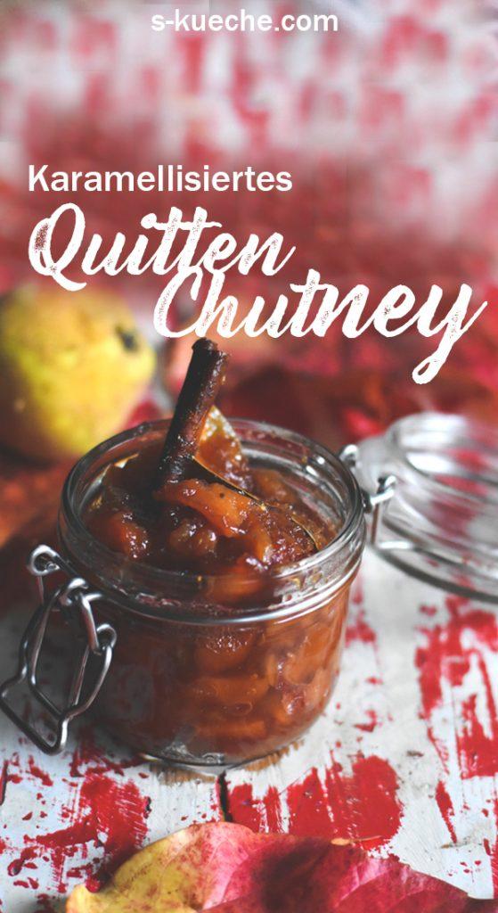 Karamellisiertes Quitten Chutney mit feinen Gewürzen und Apfel