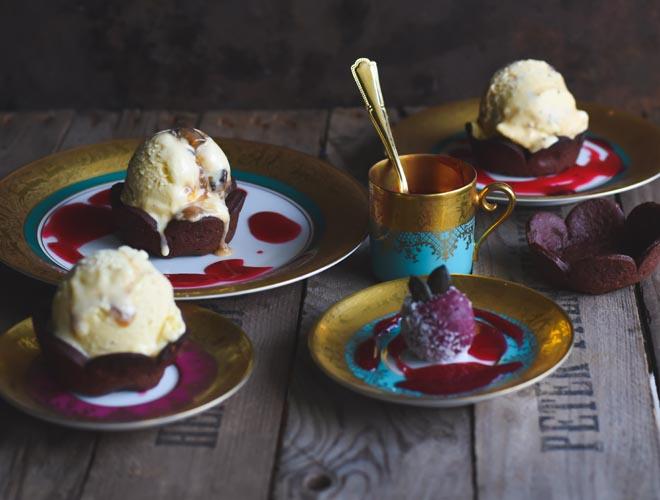 Eggnog Eiscreme mit Spekulatius Crunch