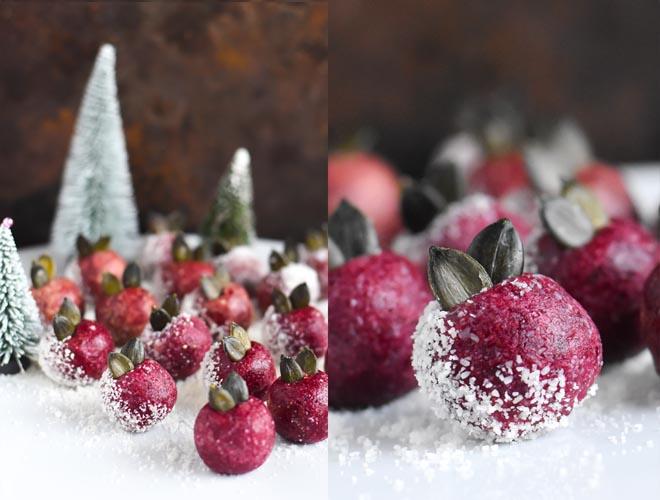 Cranberry Trüffel - Cranberry Raw Balls in der Festive X-Mas Version