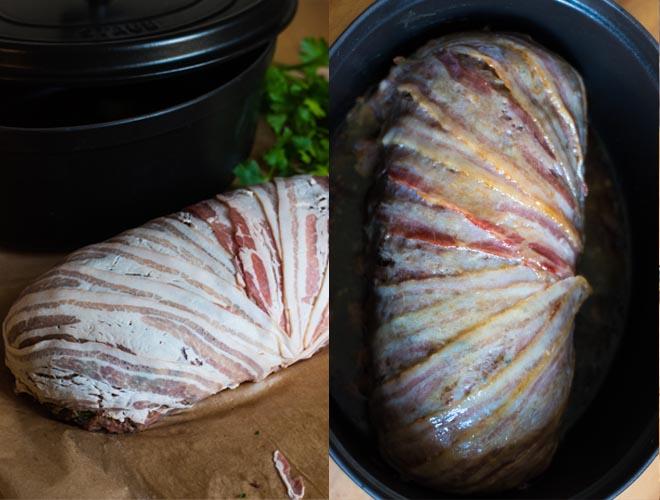 Italienisch gefüllte Bacon Bomb