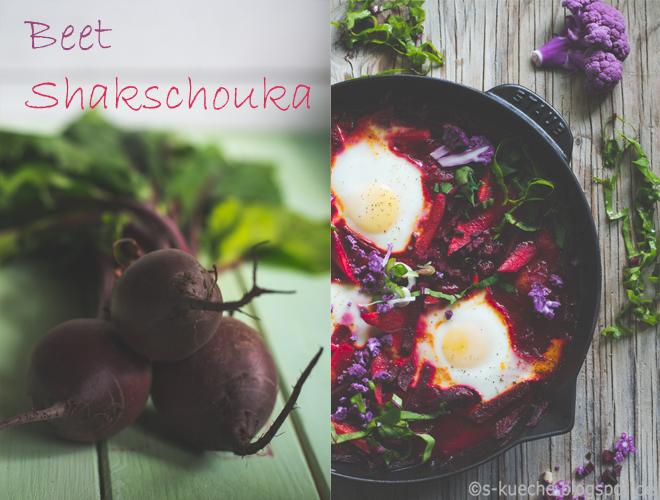 Shakshuka mit Rote Bete - Rezept für so leckeres kalorienarmes One-Pan-Gericht