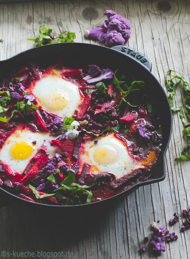 Shakshuka mit Rote Bete - Rezept für so leckeres One-Pan-Gericht
