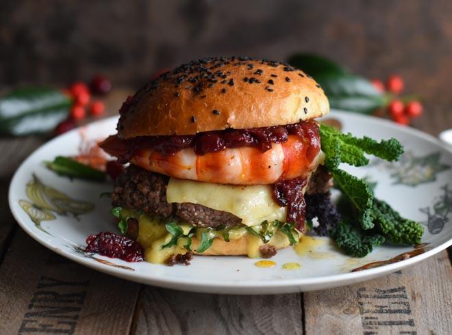 Garnelen Burger