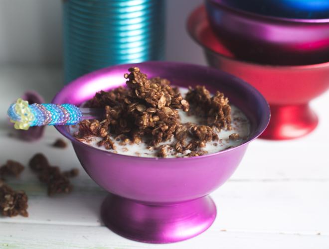 Haselnuss-Schokoladen Granola mit Original Beans