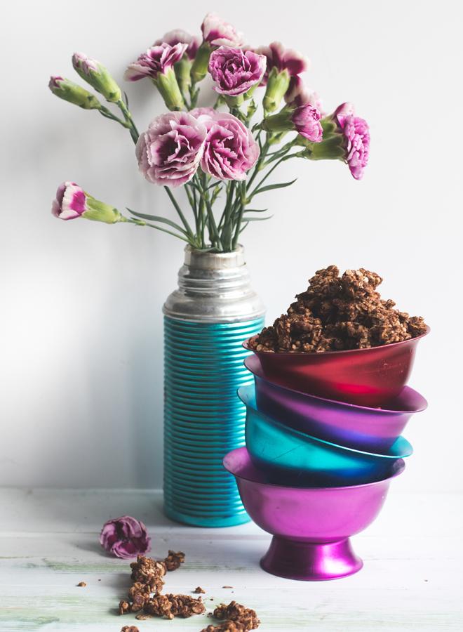 Haselnuss-Schokoladen Granola
