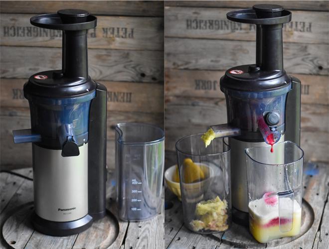 Birnen-Apfel-Karottensaft mit Fenchel Panasonic Slow Juicer