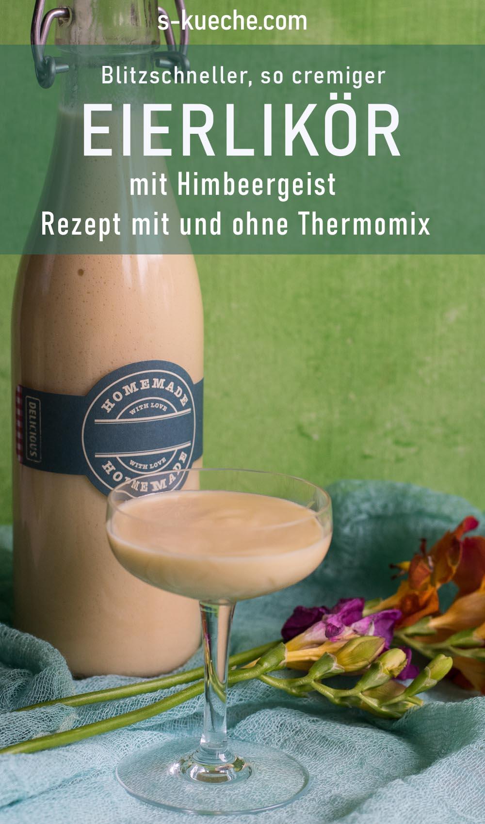 Eierlikör mit Himbeergeist - Rezept mit oder ohne Thermomix