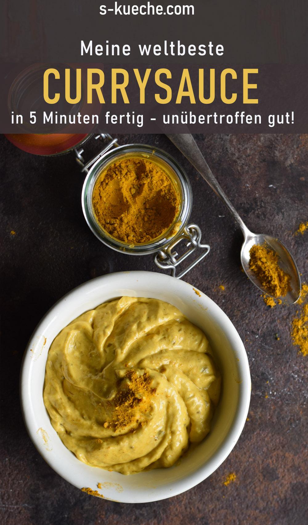 Meine weltbeste Currysauce - als Dip und für Salate. Fantastisches Rezept für Nudelsalat oder Eiersalat. In wenigen Minuten aus gängigen Zutaten gerührt
