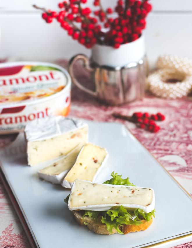 Dreierlei Baguette mit Géramont Winter-Genuss à la Elsässer Flammkuchen