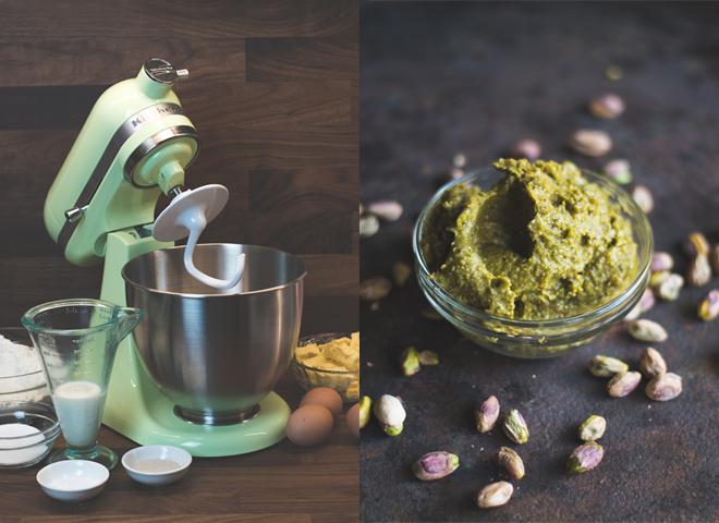 Luftiger Brioche Kranz mit Kardamom, Rosen und Pistazien - KitchenAid Mini