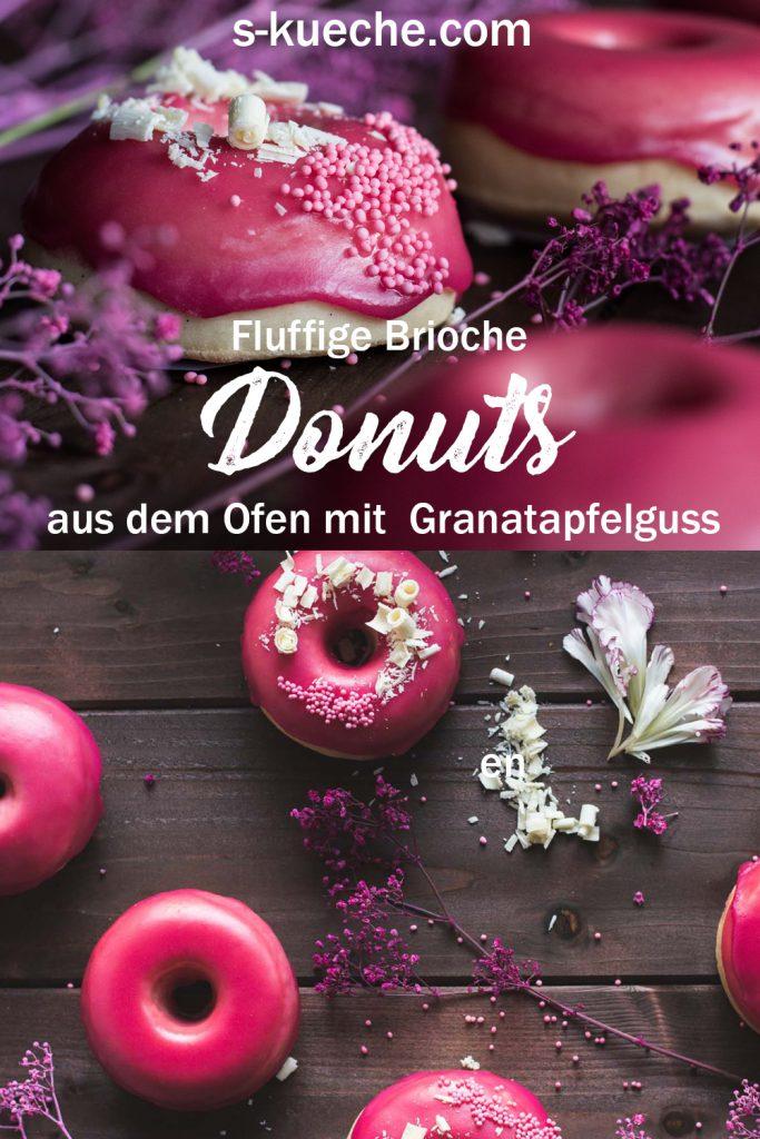 Rezept für fluffige Vanille Brioche Donuts aus dem Backofen