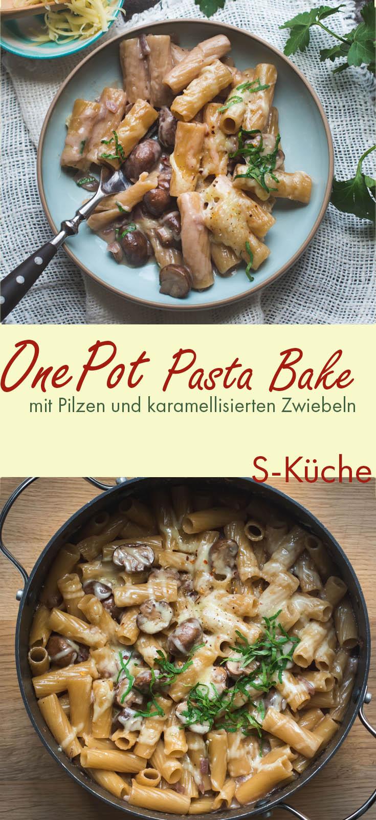 Cremige One Pot Pasta mit Pilzen