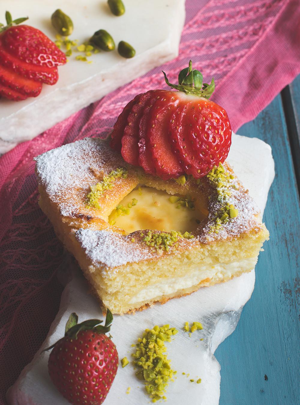 Torta Nua mit Erdbeeren