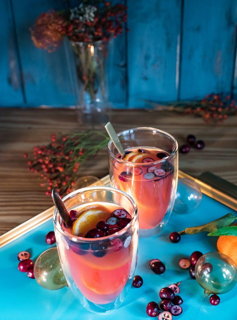 Winterpunsch aus Fruchtsaft - Mulled Cider
