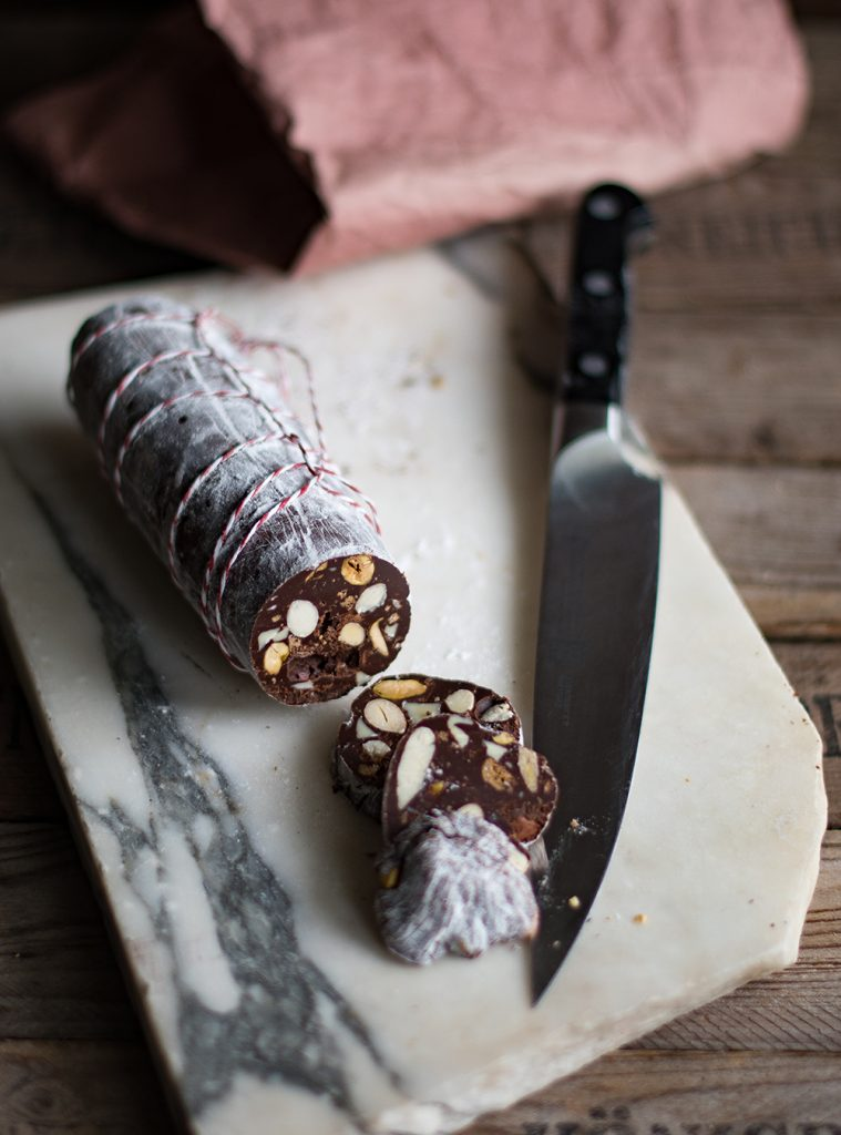 Italienische Schokoladen-Salami - Salame di Cioccolato