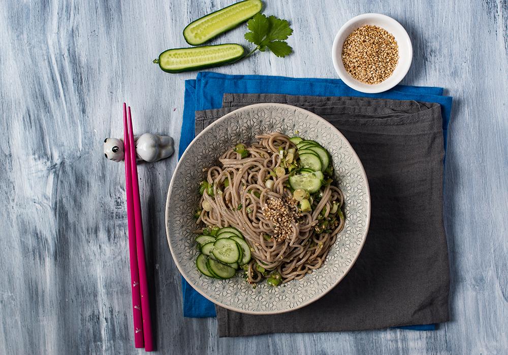 Momofuku Soba Noodles mit Ingwer und Frühlingslauch