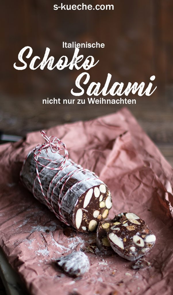 Rezept für Italienische Schokoladen-Salami - Salame di Cioccolata