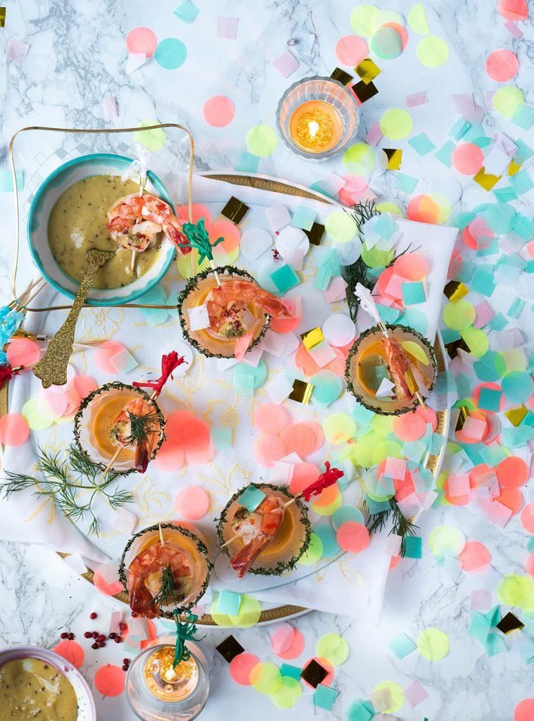 Garnelen Party-Süppchen im Glas - Fingerfood vom Feinsten
