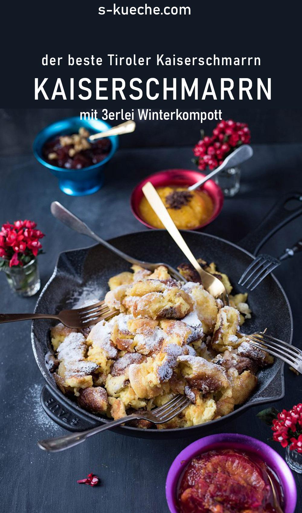 Original Rezept aus Tirol - Der beste Kaiserschmarrnmit Orangenröster und Rotweinbirnen. Rezept aus Östereich, fluffig, einfach, gelingsicher, Dessert, #mehlspeise, #rezept #kaiserschmarrn #tirolerküche #österreich #dessert #nachspeise