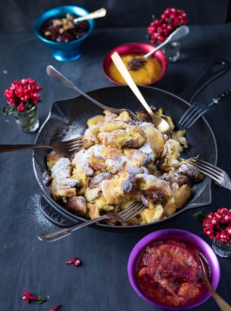 Kaiserschmarrn mit Orangenröster und Rotweinbirnen | Sunday Breakfast Club