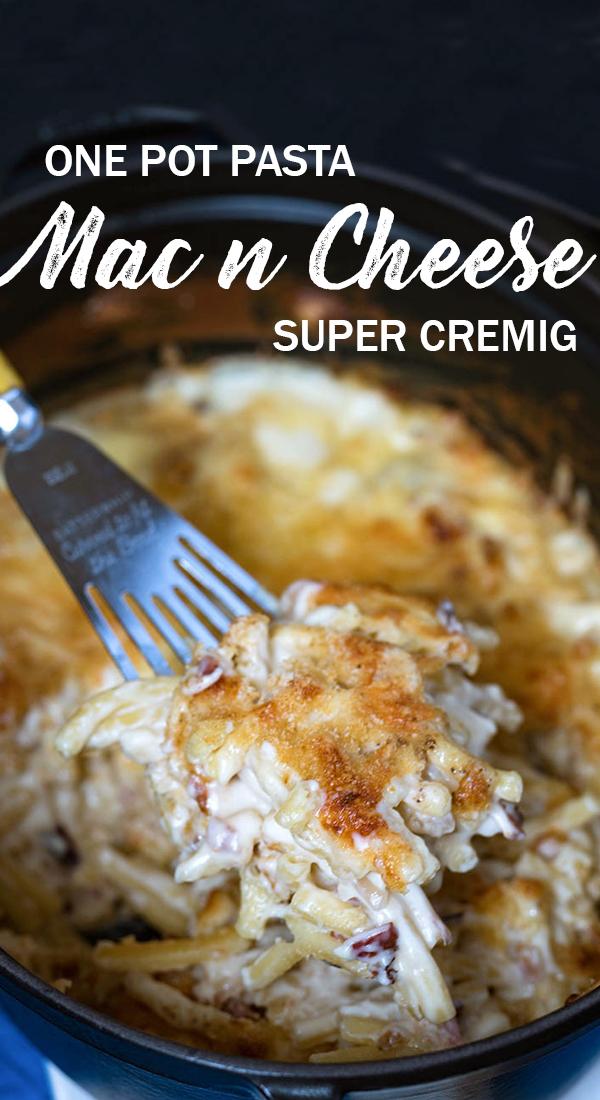 Rezept für sensationell einfache Mac and Cheese One Pot Pasta mit Bergkäse aus Tirol